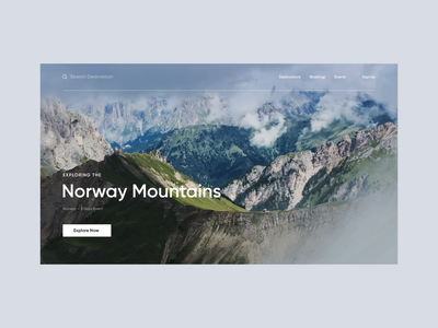 Travel: Norway travel loading minimal site interaction motion concept animation ux web ui