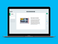 slide editor for the e-learning system