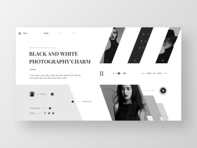 Web design---03-Black and white photos