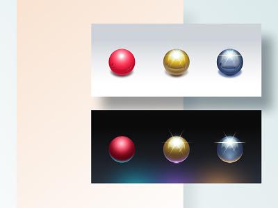 Ball icons shadow icon set ball illustrator vector illustration web design