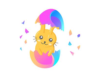 Designosource - Easter Logo egg easter egg easter bunny gradient flat web agency illustration vector icon branding design logo designosource brand