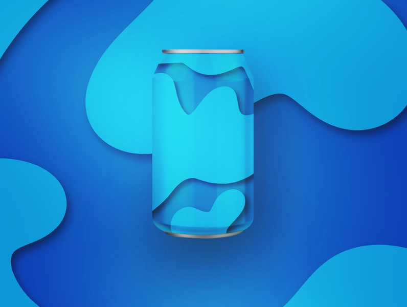 Hand drawn drink can mock up - procreate