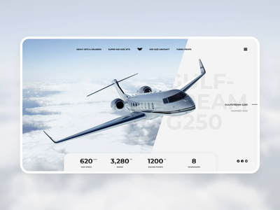Animated product page with parallax effect parallax effect parallax product review plane jet luxury animated ui card design animated cards product page product aircraft interface ui prototype animation animation