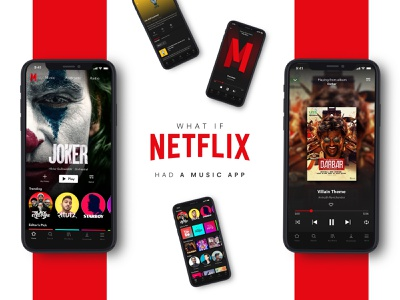 What if NETFLIX had a music app web app dribble mobile android ios ui ux music app design ui design ux dark ui music app netflix adobe photoshop adobe illustrator clean ui app adobe xd