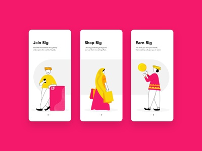 Digital India | Loyalty App Onboarding | Illustrations xd design 2020 uiux dailyui color palette loyalty avenir clean character india app adobe photoshop mobile ux ui onboarding ui illustraion illustrator xd