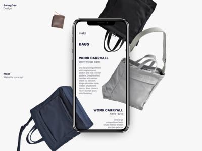 Makr — Website Concept
