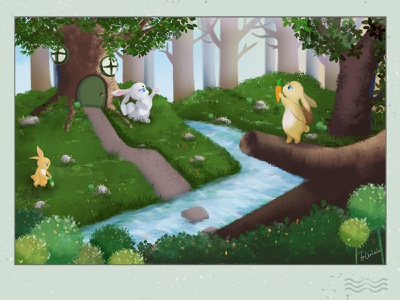 Life of the Bunny Family illustration