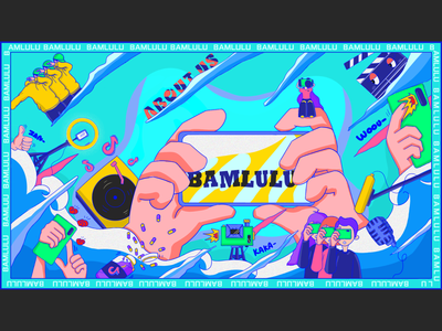 Illustration of company publicity original design illustration