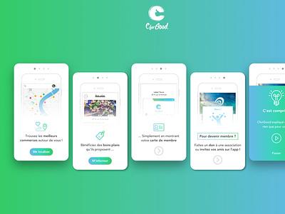 CforGood fairtrade applications android ios ux design ui designs application cforgood