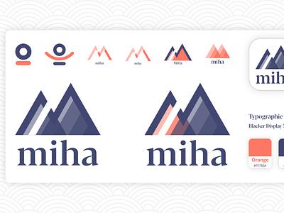 Miha ios mobile app yoga app meditation yoga miha graphic design brand design brand logo