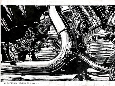 Illustration transportation design automotive design illustration realistic drawing