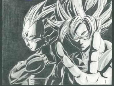 DBZ illustration sketching illustraion anime