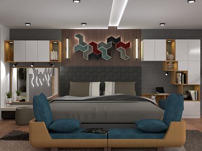 The Loft (Bedroom) rendering furniture design interior design