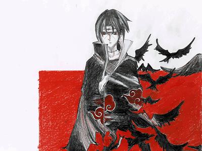 Itachi Uchiha sketching illustraion artwork anime studio