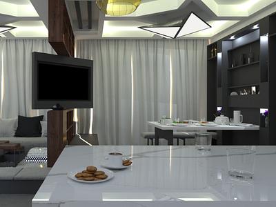 Living Room concept design customized lighting lighting product design interiors design vray 3dsmax interior design