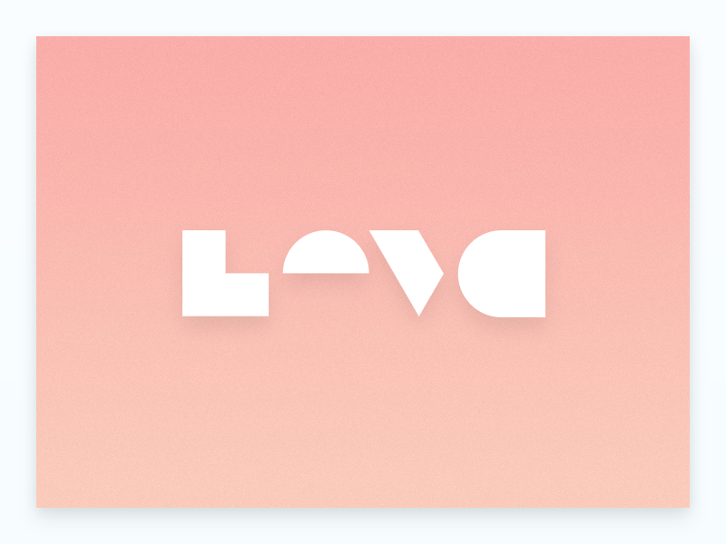 Incomplete illustrator vector text geometry typography incomplete love
