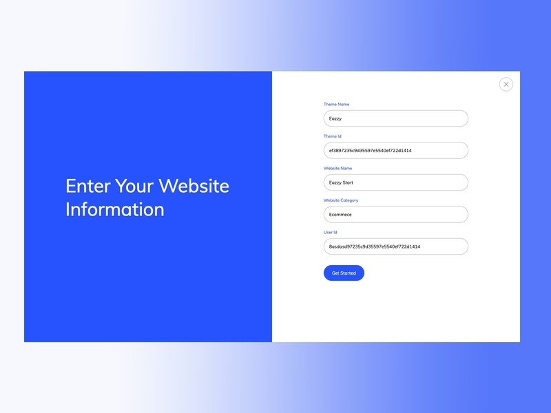 Registration branding ui website builder design clean ui ux trime clean ui form