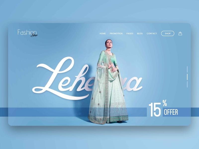UI Design hero banner website design ecommerce design business branding typography vector ui