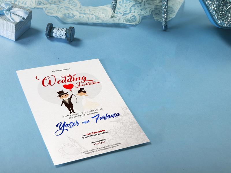 Wedding Card Design special event couples love marriage invitation wedding card illustration design