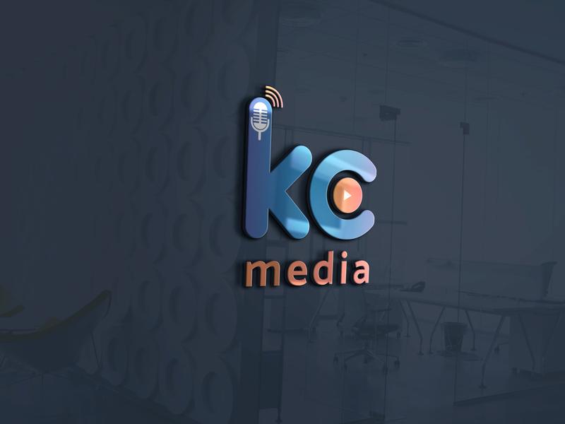 Logo for Social Media channel youtube media kc design illustration vector typography logo branding