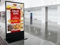 Indoor Banner Design restaurant shop red food business branding