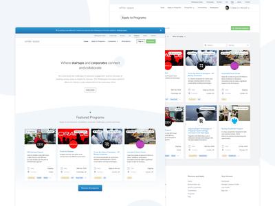 The Whitespace Innovation Hub Desktop Screens