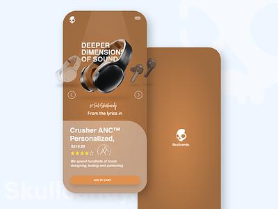 Unofficial Skullcandy Mobile UI uiux mobile ui uidesign unsplash app minimal ui