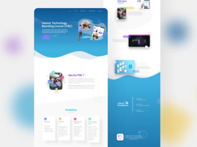 ITBC web design course ux ui landingpages