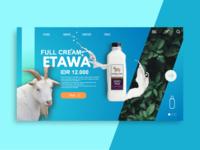 Etawa Milk Landing Page
