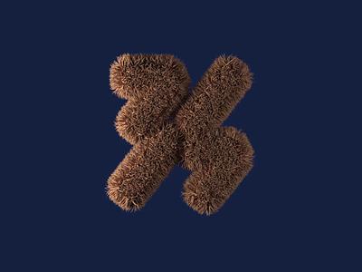 PUJI Logo branding animal logo hair 3d animation