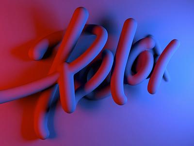 Relax neon animation 3d handwritten font