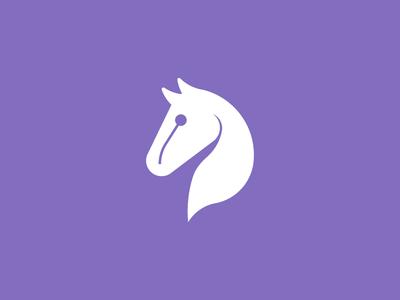 Horse horse icon logo flat