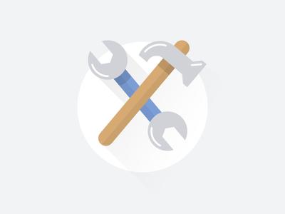 Maintenance Icon spanner hammer icon tool maintenance maintain error prompt