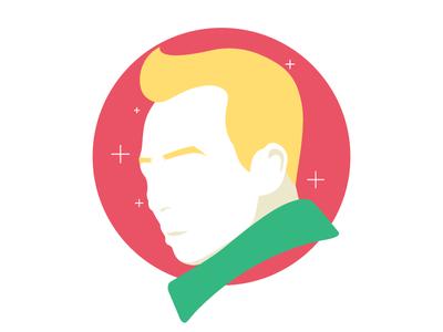 Portrait new year festival icon vector face hair xmas christmas avatar portrait