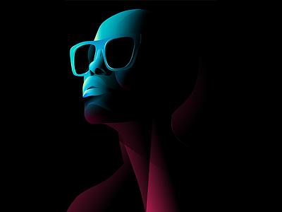 Portrait color illustration portrait