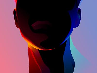Portrait illustration vector black color fashion portrait