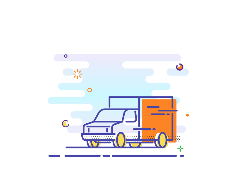 Line Illustration icon mbe line truck