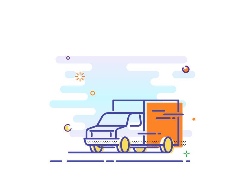 Line Illustration icon mbe line truck