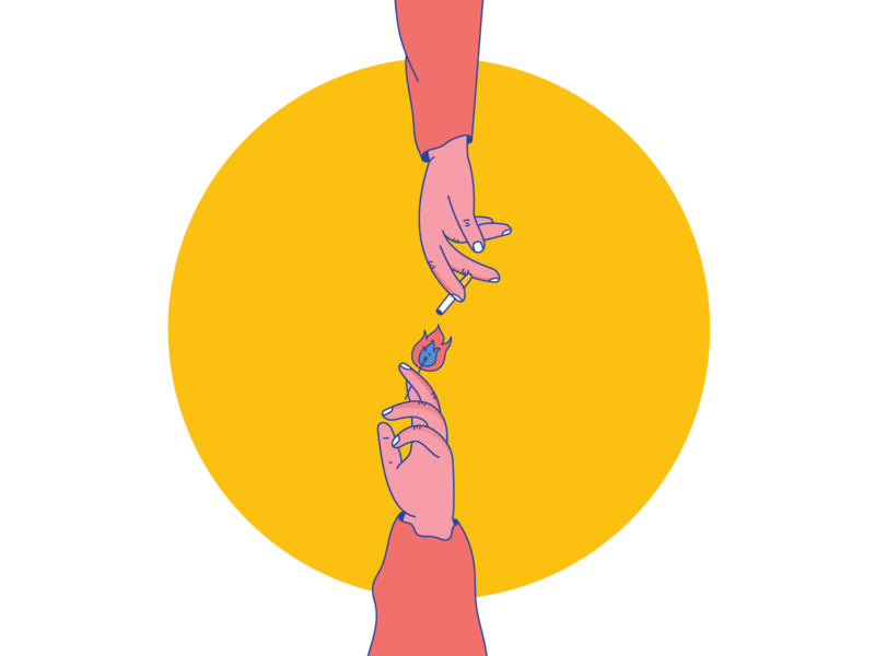 light finger fingers finger light matches match light cigarette cigarettes hands hand hand drawn illustration illustrator design sketch