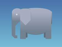 DailyCSSimages - Day 2: Elephant