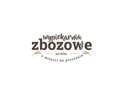 Wypiekarnia Zbożowe  Logo typography bakery bread vector minimal logo branding identity visual identity