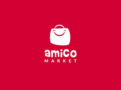 Amico Market Logo brand and identity brand system typography responsive logo visual identity logotype brand logo identity branding