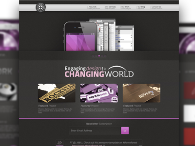 Website Template PSD template free download psd