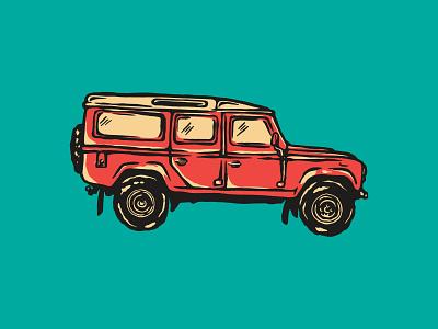 LAND ROVER / OVARLAND SRI LANKA vintage lifestyle surf journeys outdoors land rover truck branding design illustration