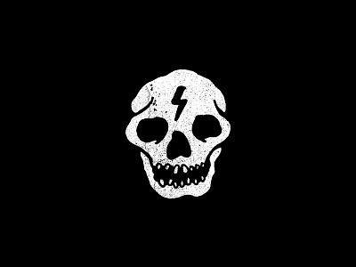 Electric Skull branding marks brand lightingbolt lockup badge icon electric thunder skull