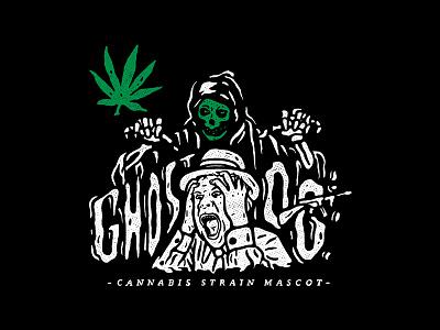 Ghost OG / 01 gangster design marihuana ghost illustration cannabis sticker