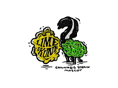 Lime Skunk / 02 strain joint marihuana lime skunk lime skunk illustration cannabis sticker