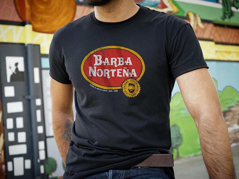 Barba Norteña   Carta Blanca norteño fashion apparel logo design tshirt  sacramento mexico california barba norteña f8d9528a057