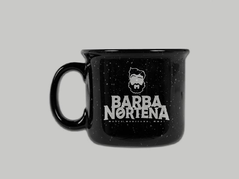 Barba Norteña Logotype coffee cup mexico garments apparel clothing brand  identity brand build branding design logo 1dada28368c
