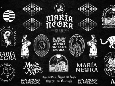 Mezcal María Negra Brand Assets